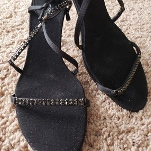 Sparkly Strappy Nine West Heels